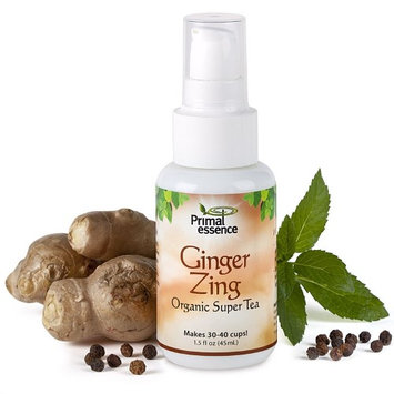 Organic Super Tea Ginger Zing Primal Essence 1.5 oz Spray