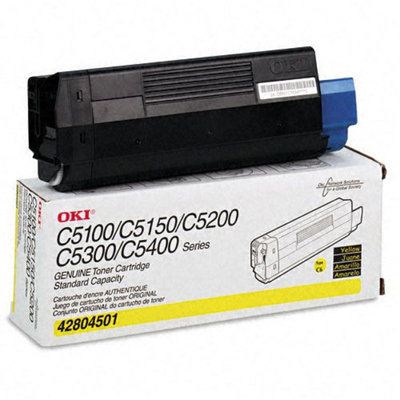 Okidata Corporation 42804501 Toner Cartridge, Yellow - OKIDATA