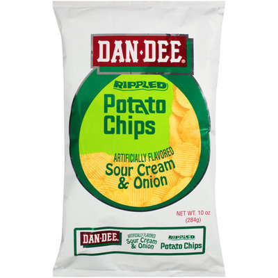 Dan Dee Sour Cream & Onion Potato Chips, 10 oz
