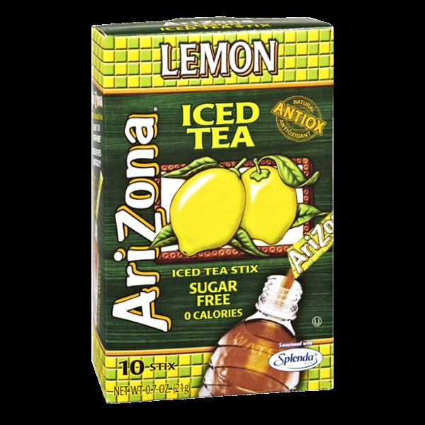 Arizona Lemon Iced Tea Sugar Free 0 Calories Iced Tea Stix- 10 CT