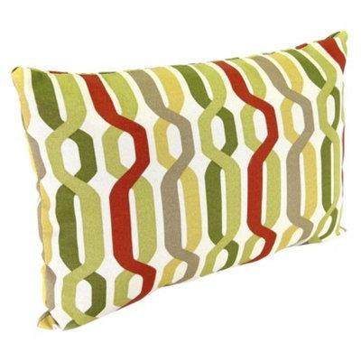 Jordan Outdoor Rectangle Toss Pillow - Red/Green Geometric