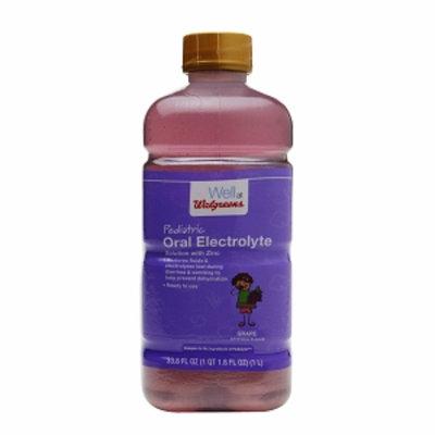 Walgreens Pediatric Electrolytes with Zinc, Grape, 33.8 fl oz