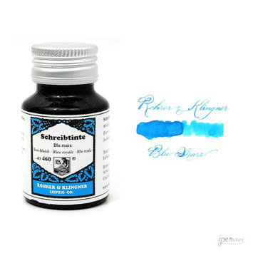 Rohrer & Klingner 50 ml Bottle Fountain Pen Ink, Blu Mare (Sea Blue)