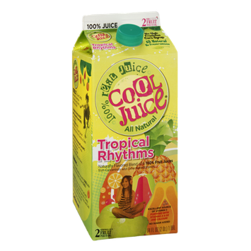 CoolJuice Tropical Rhythms No Sugar Added All Natural 100% Real Juice