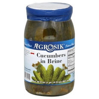 Agrosik A'Grosik Cucumbers in Brine, 30 Oz