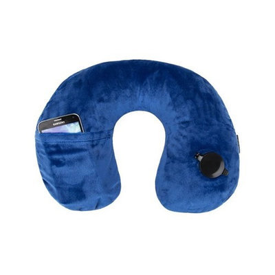 Travelon Deluxe Inflatable Pillow-Cobalt Deluxe Inflatable Pillow