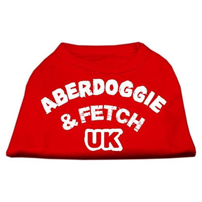 Mirage Pet Products 5102 XXLRD Aberdoggie UK Screenprint Shirts Red XXL 18
