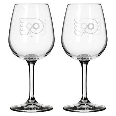 Boelter Brands NHL 2 Pack Philadelphia Flyers Wine Glass - 12 oz