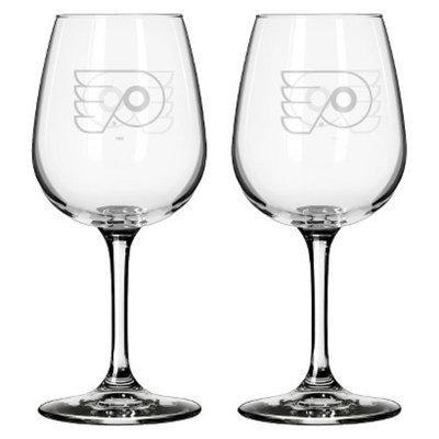 Boelter Brands NHL 2 Pack Philadelphia Flyers Wine Glass - 12 oz