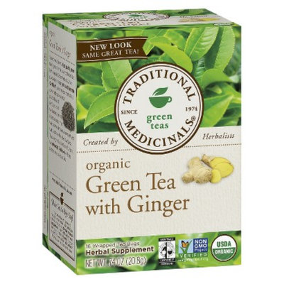Traditional Medicinals Green Tea with Ginger Tea Bags