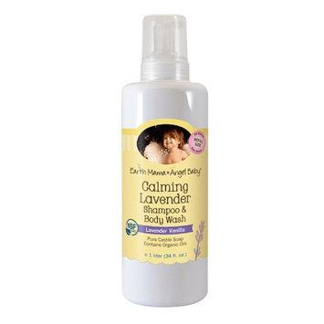 Earth Mama Angel Baby Calming Lavender Shampoo & Body Wash, Lavender Vanilla, 34 fl oz