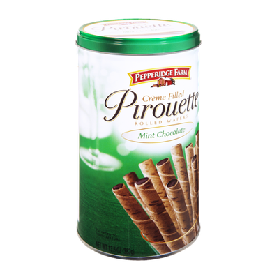 Pepperidge Farm® Mint Chocolate Creme Filled Pirouette Rolled Wafers