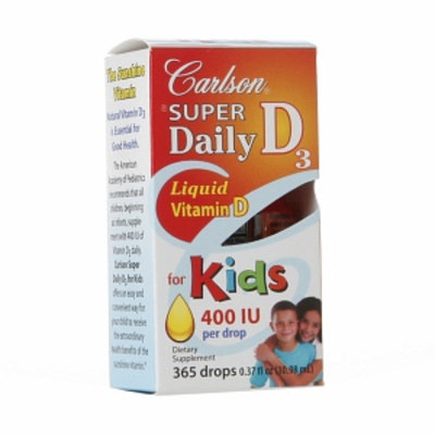 Carlson Super Daily D3 400 IU Liquid Vitamin D for Kids, .37 fl oz