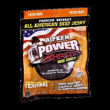 Ripken Power Shred Beef Jerky Teriyaki
