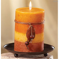 Deco Breeze NAT1369 Candle Plate 5 in.