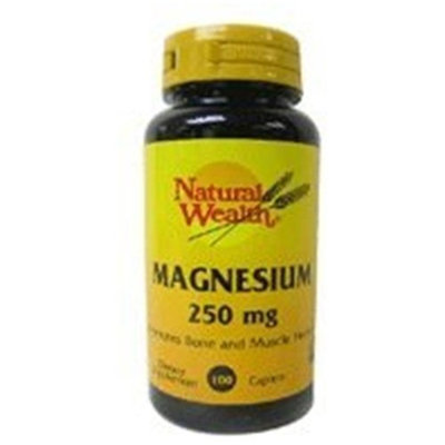 Natural Wealth MAGNESIUM TABS 250 MG NAT/WL Size: 100