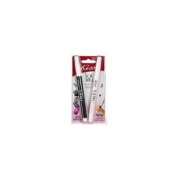 Kiss Nail Artist Fine Art Pen Black and White (2-pack)