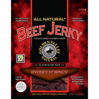 Golden Valley Natural All Natural Beef Jerky Sweet n' Spicy