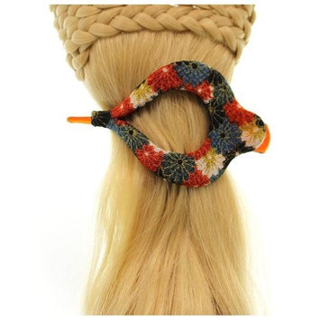 Annie Loto Sudios Jewelry Blue Arch Clip Sml Hair Accessory Style, 1.75 in. - 365A BLUE