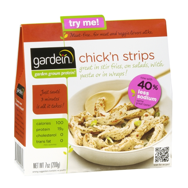 Gardein Chick'n Strips 40% Less Sodium