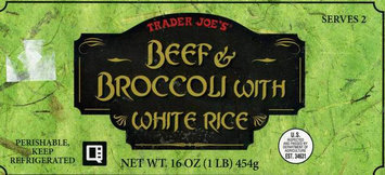 Trader Joe's Beef and Broccoli with Rice