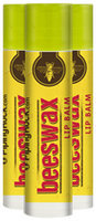 Piping Rock Beeswax Lip Balm 3 Pack (3 Tubes x 0.15 oz)