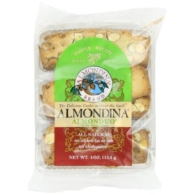 Almondina Almonduo with Pistachio Cookies, 4-Ounce Packages (Pack of 6)