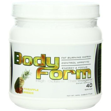 Better Body Sports Bodyform Thermogenic & Fat Burning Energy Drink - Delicious Tropical Flavor Series