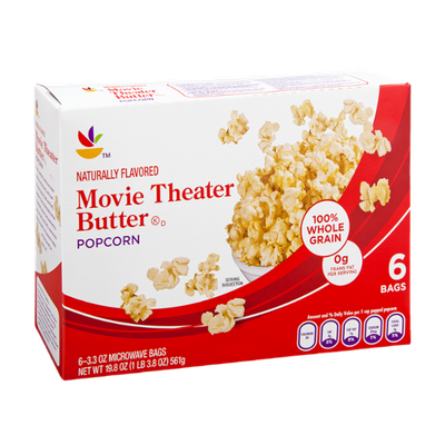 Ahold Movie Theater Microwave Butter Popcorn - 6 CT