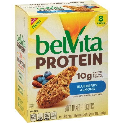 Nabisco belVita Soft Baked Biscuits Protein Blueberry Almond