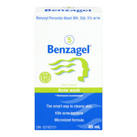 Benzagel Acne Wash, 5% Benzoyl Peroxide, 85 mL
