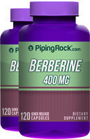 Piping Rock Berberine HCL 400mg 2 Bottles x 120 Capsules