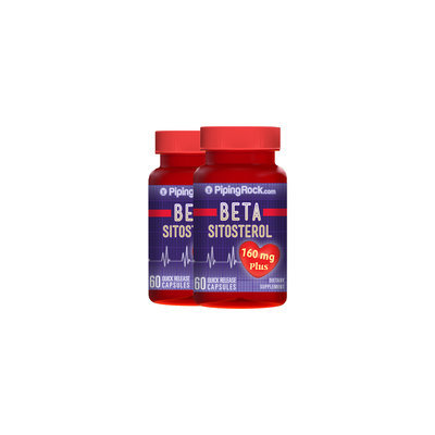 Piping Rock Beta Sitosterol 160 mg 2 Bottles x 60 Capsules