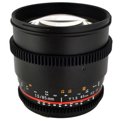Rokinon 85mm T1.5 Cine Lens for Sony E + Lens Band (Black) + 5 Piece Deluxe Clea