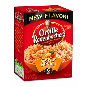 Orville Redenbacher's Orville Redenbacher Spicy Nacho Microwave Popcorn, 18 Ounce Boxes (Pack of 6)