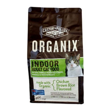 Castor & Pollux Organix Indoor Adult Dry Cat Food, 40 Ounce Bag (Chicken Brown Rice Flaxseed )