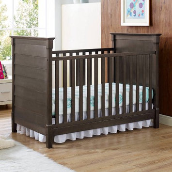 Dorel Asia Baby Relax Slade 2-in-1 Convertible Fixed-Side Crib, Rustic Gray