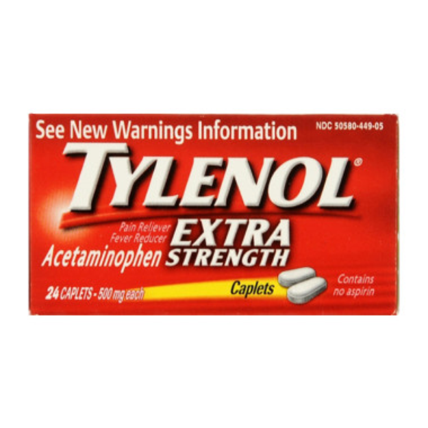 Tylenol Extra Strength Pain Relief - Caplets, 24 ct