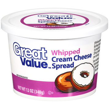 Great Value Whipped Cream Cheese Spread, 12 oz