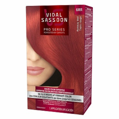 Vidal Sassoon Pro Series Hair Color, 6RR Runway Red, 1 kit