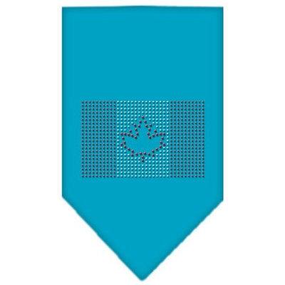Mirage Pet Products 6717 LGTQ Canadian Flag Rhinestone Bandana Turquoise Large