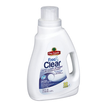Our Family Free & Clear Ultra Laundry Detergent - 32 Loads