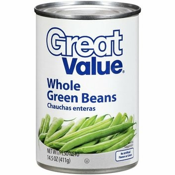 Great Value : Whole Green Beans