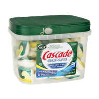 Cascade Complete All in 1 Lemon Burst Scent Dishwasher Detergent - 48 PK