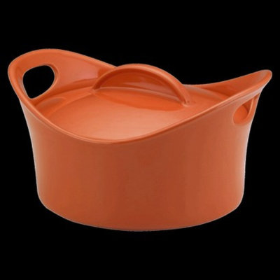 Rachael Ray Round Casserole with Lid - Orange (2.75 Qt)