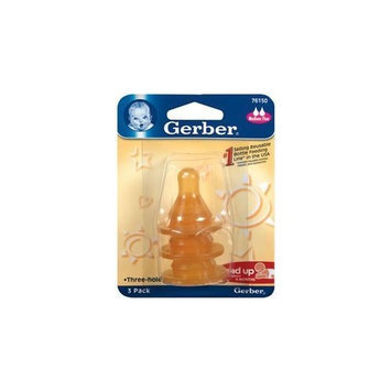 Nestlé Gerber Nipples Three-Hole Design Medium Flow Pack of 1