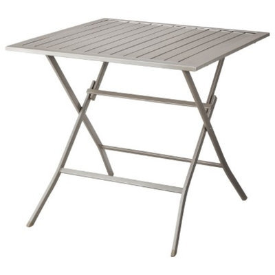 Courtyard Creations Outdoor Patio Furniture: Threshold Aluminum Slatted Table, Russell
