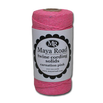 Sentron Twine Cording 100 Yards/Roll Carnation Pink