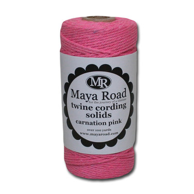 Sentron Twine Cording 100 Yards/Roll Carnation Pink