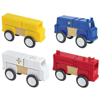 Guidecraft Block Mates - Community Vehicles, 1 ea